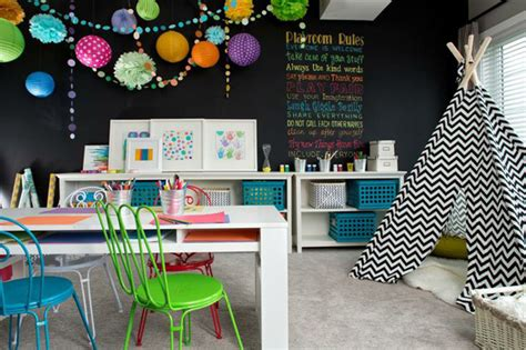 chalkboard paint playroom 20 stunning basement playroom ideas house design and decor