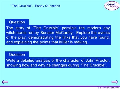 themes of the story crucible the crucible