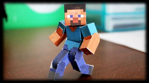 Steve Papercraft - how to make the ultimate bendable steve minecraft