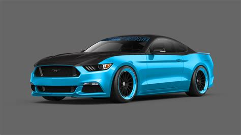 2015 mustang modified pair of modified 2015 ford mustangs revealed ahead of 2014