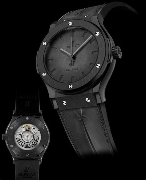 Watches Black hublot classic fusion berluti in all black