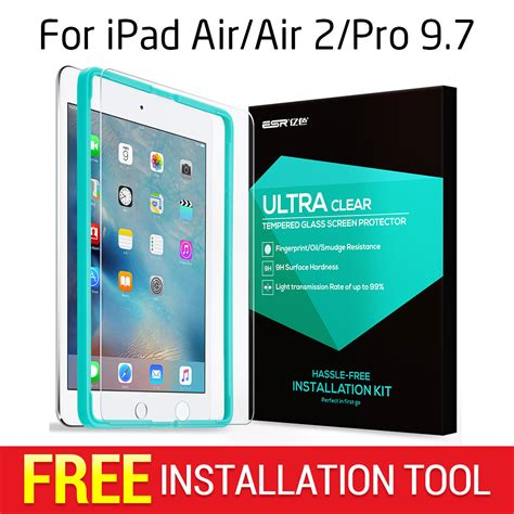 New 2017 9 7 Air 3 Tempered Glass Anti Gores Berkualitas screen protector for 2017 air air 2 pro 9 7 esr