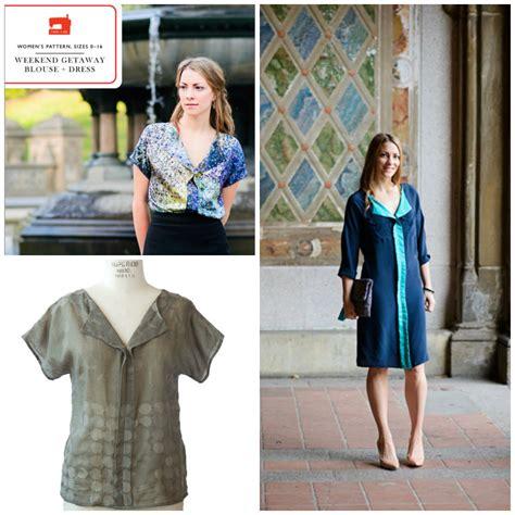pattern review weekend liesl co lc003 weekend getaway blouse dress
