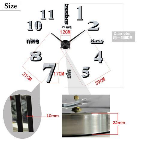 Jam Dinding Diy 80 130cm Diameter Elet00659 Jam Dinding Diy 80 130cm Diameter Elet00659 Black Jakartanotebook