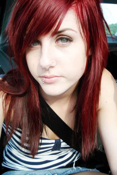 emo hairstyles for redheads alexandras