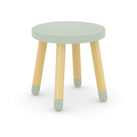 child stool green water flexa play design children