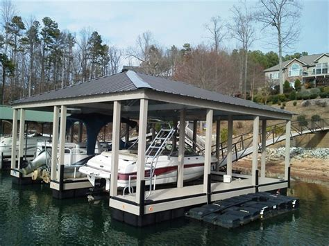 floating aluminum boat house custom dock systems builds quality boat docks boat lifts