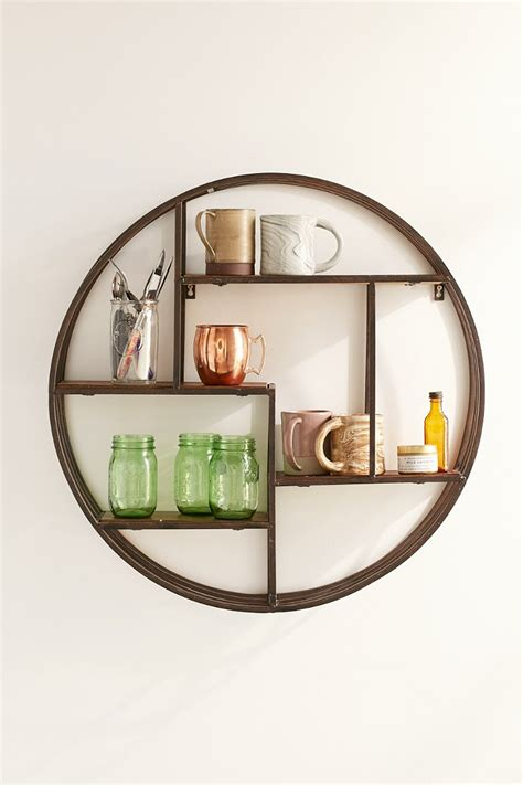 Circle Shelf by 4040 Locust Wooden Circle Wall Shelf Outfitters