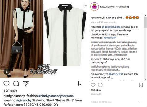 Harga Kemeja Givenchy terlihat sederhana kemeja nindy nonton konser dion