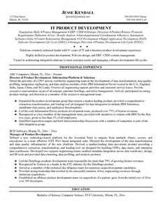 Product Developer Sle Resume exle information technology product developer resume sle