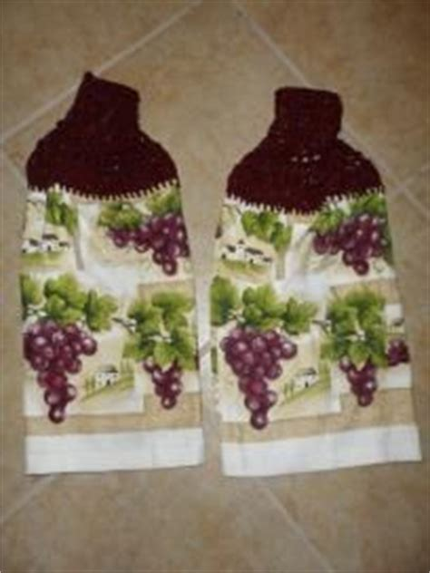 Grape Decorations For Kitchen by Chateau Grapes Kitchen Decor Hanging Towels Purchase Supports Troops