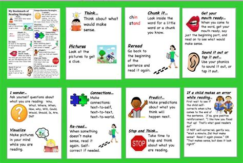 Reading Focus Card Template by Pin Sq3r Bookmark With Notes On