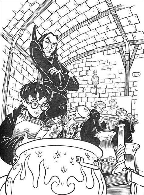 harry potter snape potions class coloring pages