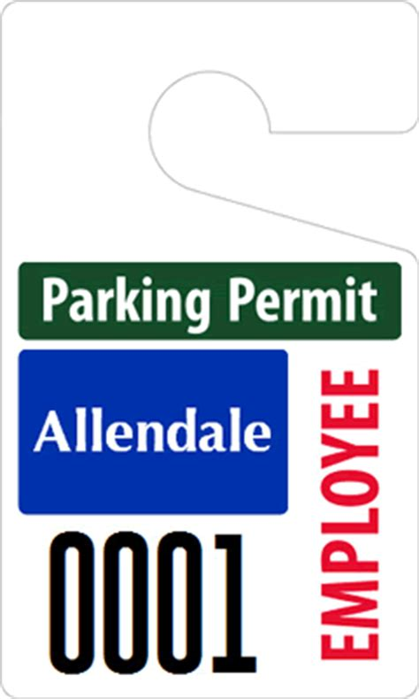 all standard hanging parking permits