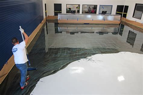 Metallic Epoxy Floor for San Diego Showroom   Life Deck