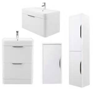 march high gloss white bathroom vanity furniture storage