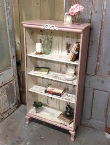 Shabby Chic Bookcase White by Pink Shabby Chic Bookshelf Painted Distressed Furniture