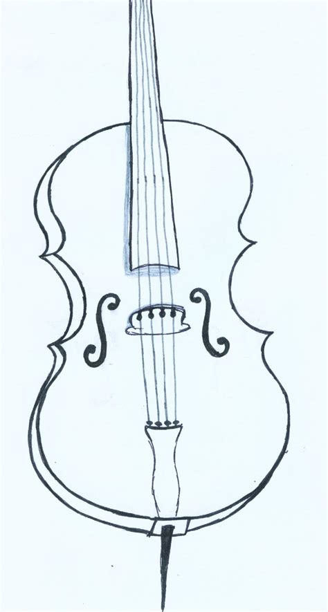 cello drawing by inkielove on deviantart