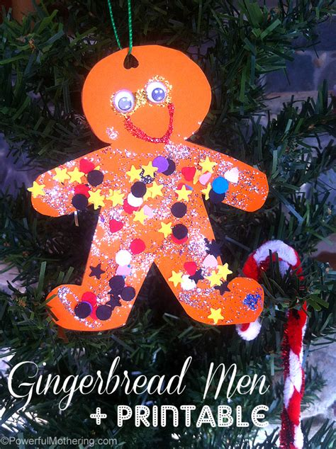 ornaments for two year olds to make gingerbread tree and printables