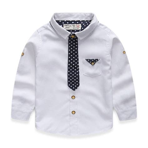 shirts for toddlers 2 7 years boys shirt sleeve turn collar