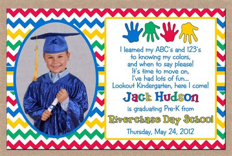 themes for kindergarten graduation day special cute printable graduation invitation design with