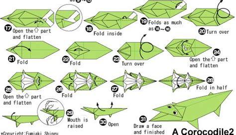 How To Make A Paper Crocodile - 儿童折纸简单鳄鱼折纸教程 纸艺网
