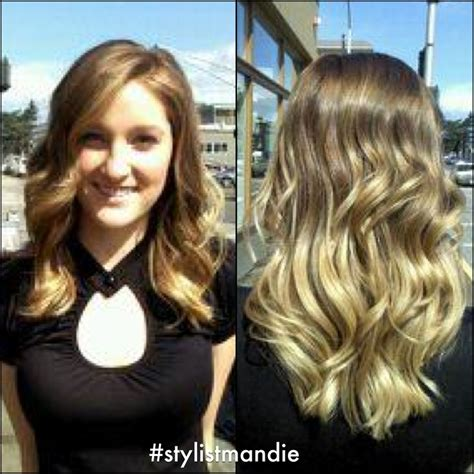 pictures of highlights only front and hair ends front and back view of the medium brown to blonde ombr 233