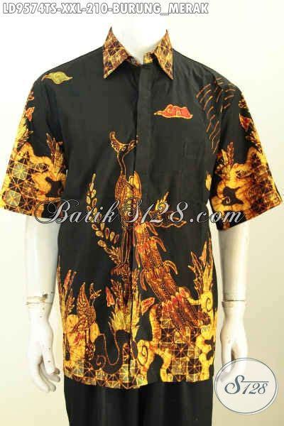 Kemeja Hem Batik Merak jual hem batik pria gemuk kemeja lengan pendek motif