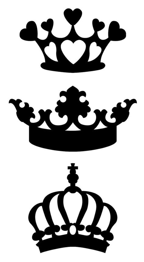 crown clipart  silhouette cameo clipground
