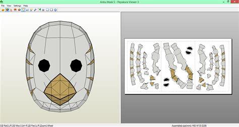 Anbu Mask Papercraft - anbu mask 5 papercraft by sibor270898 on