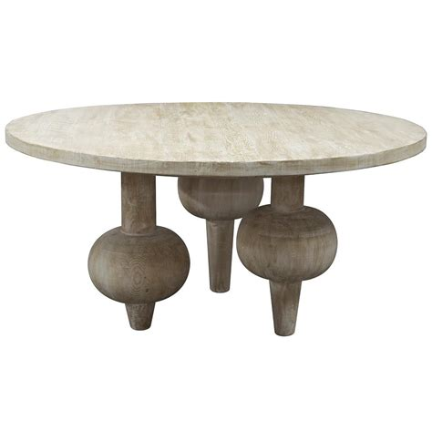 vern modern classic orb reclaimed wood dining table