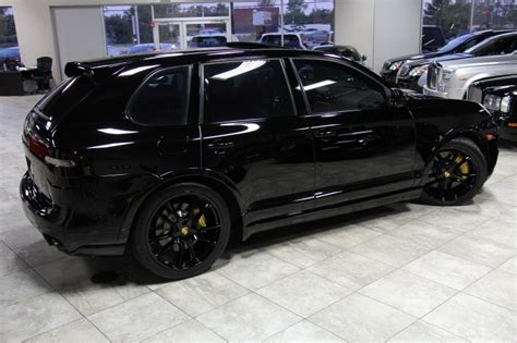 porsche cayenne blacked out blacked out porsche cayenne turbo s with a techart kit