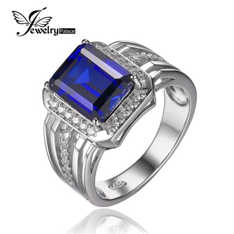 Blue Saphire 7 7ct aliexpress buy jewelrypalace 4 7ct blue sapphire