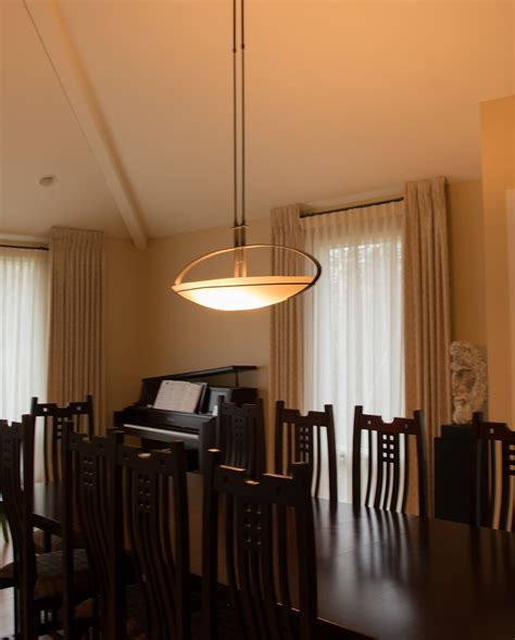 hubbardton forge pendant  dining room gross electric