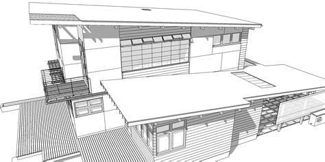 architecture house drawing modern house