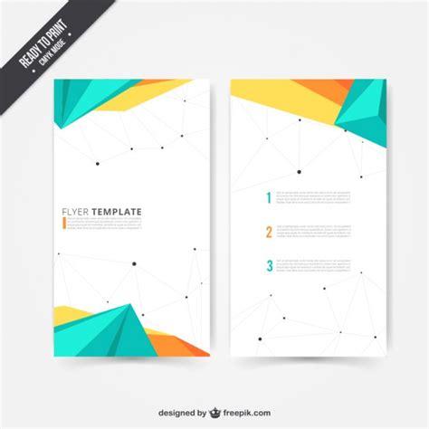 modern design layout vector modern flyer in polygonal design vector free download