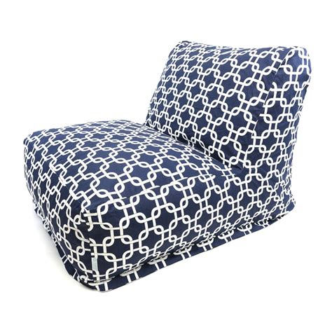Bean Bag Chairs In Store Shop Majestic Home Goods Navy Blue Bean Bag Chair At Lowes