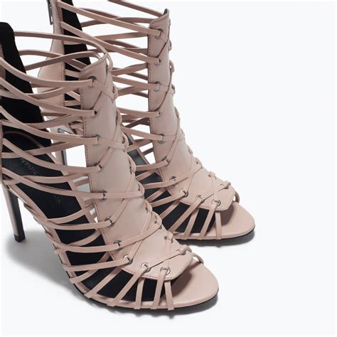 leather high heel sandal heeled sandals shoes