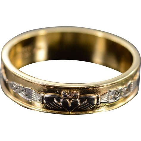Wedding Bands Galway by 14k Irisih Claddaugh Wedding Band Made In Galway Ireland