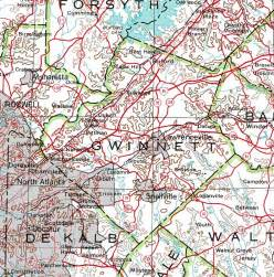 map of gwinnett county county of gwinnett georgiainfo