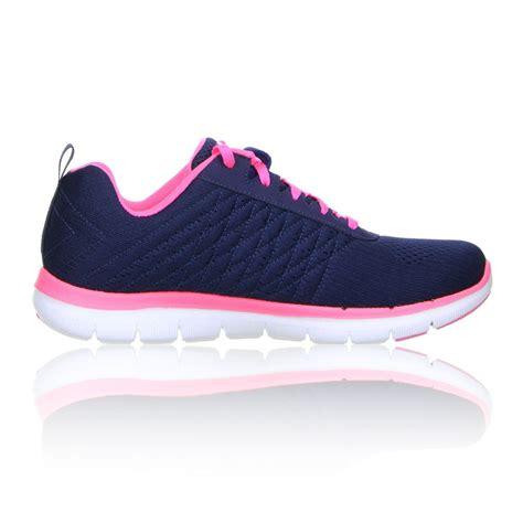 skechers sport running shoes skechers sport flex appeal 2 0 free womens blue