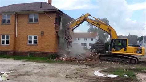 Tearing Down Brick House Demolition Youtube