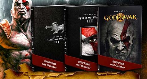 libro who made god and 272 page art of god of war iii book incoming
