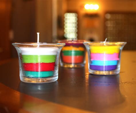 how to make decorative candles at home layered crayon candles
