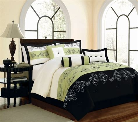 black green comforter black and green bedding lime green and black comforter and