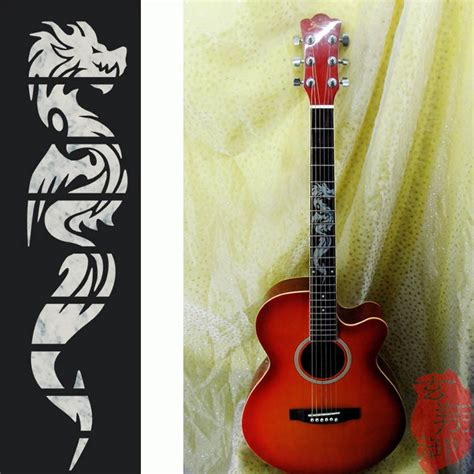 Stiker Fretboard Gitar Akustik Elektrik Inlay Decal aliexpress buy electric acoustic guitar inlay sticker the fretboard markers sticker