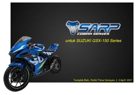 Segitiga Dan Stang Sarp Gsx 150 Series pakai part racing sarp cobra series garansi gsx r150 tidak akan gugur mantab jiwa atasaspal
