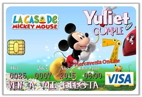 imagenes de cumpleaños tematicos infantiles invitacion tarjeta credito pvc infantiles tem 225 tico fiesta