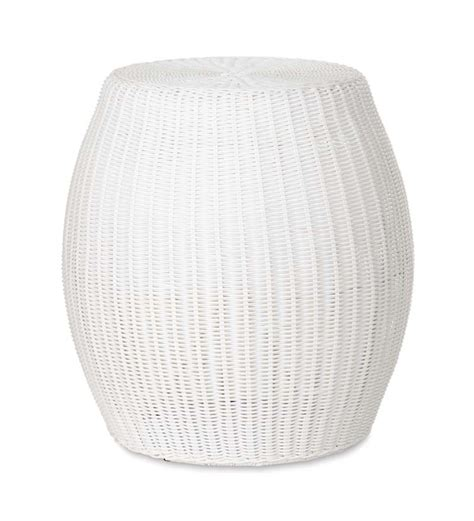 outdoor poufs and ottomans small outdoor wicker ottoman pouf plowhearth