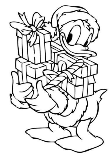 donald duck christmas coloring pages part 5